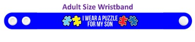 i wear a puzzle for my son autism awareness ribbon autism awareness puzzle ribbon