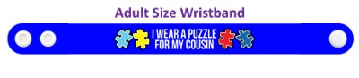 i wear a puzzle for my cousin autism awareness ribbon autism awareness puzzle ribbon