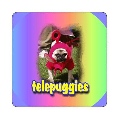 telepuggies magnet alien costume teletubbies kid child adorable pug dog puppy love cute