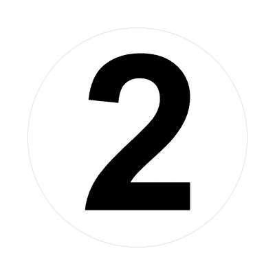 number two 2 math plain number sticker