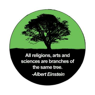religion science tree connected magnet