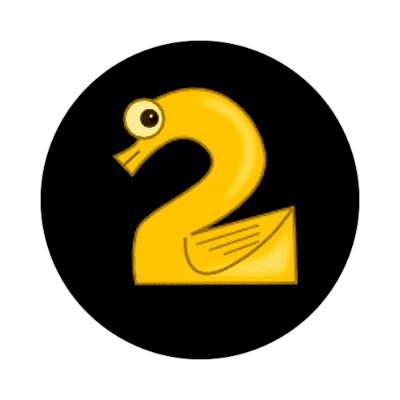 two 2 numbers sticker