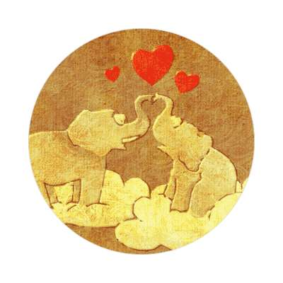 elephant hearts valentines day love sticker