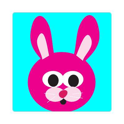 pink bunny easter rabbit sticker