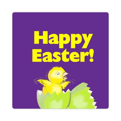 happy easter chick chicky egg sticker