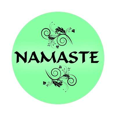 namaste one word sticker