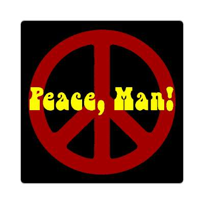 peace man sticker 1960s 60s flower power peace marijuana herb sixties hippies hippy style love truth righteous groovy psychedelic