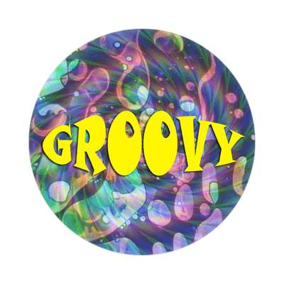 groovy sticker 1960s 60s flower power peace marijuana herb sixties hippies hippy style love truth righteous groovy psychedelic