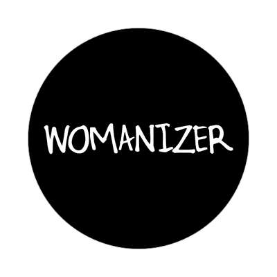 womanizer one word sticker