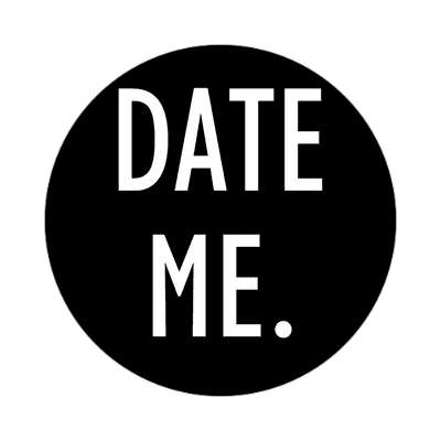 date me two words sticker