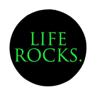 life rocks two words magnet