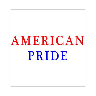 american pride sticker red white blue american flag stars and stripes pride president campaign nationalism anthem god bless the usa statue of liberty american flag  america pride symbol new york city troops