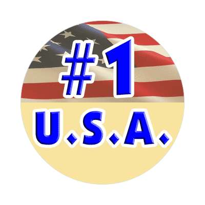 number one usa sticker red white blue american flag stars and stripes pride president campaign nationalism anthem god bless the usa statue of liberty american flag  america pride symbol new york city troops
