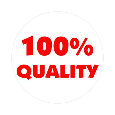 100 percent quality sticker business associate sales salesman tips happy hour boss employee employer opportunity