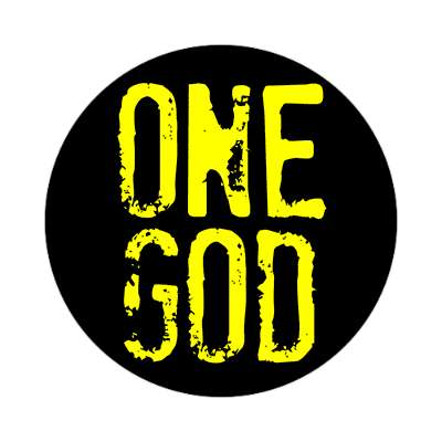 one god sticker Christianity jesus pictures christ lord god religion religious bible biblical jesus church baptism god thanks catholic lutheran non denominational orthodox fundamental evangelical evangelism pentecostal