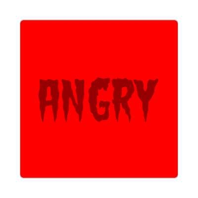 angry one word sticker
