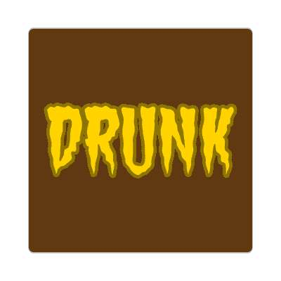 drunk one word sticker