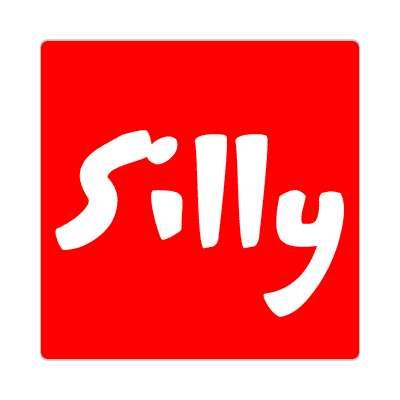 silly one word sticker