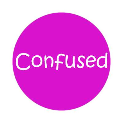 confused one word sticker