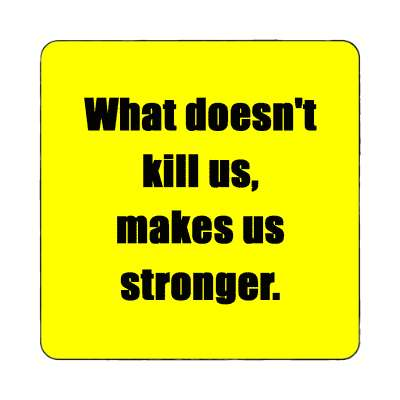 what doesnt kill us makes us stronger magnet wise sayings funny sayings