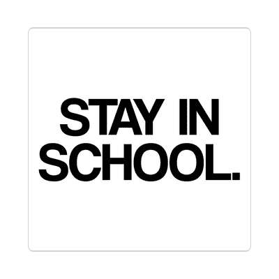 stay in school education school sticker elementary kindergarten books teacher student homework math english science art apple library librarian