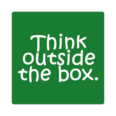 think outside the box education school sticker elementary kindergarten books teacher student homework math english science art apple library librarian