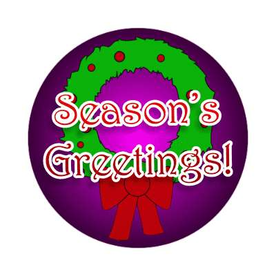 seasons greetings sticker christmas snow santa rudolph raindeer gifts xmas holiday winter jesus christ ornaments cheer
