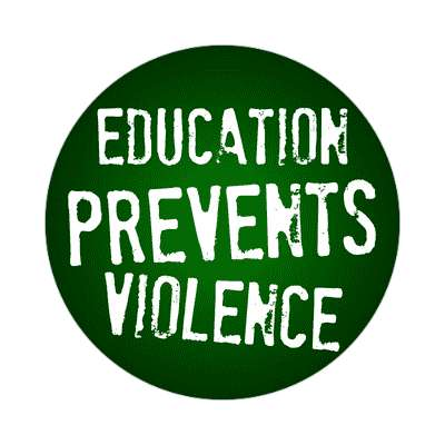 education prevents violence education school sticker elementary kindergarten books teacher student homework math english science art apple library librarian