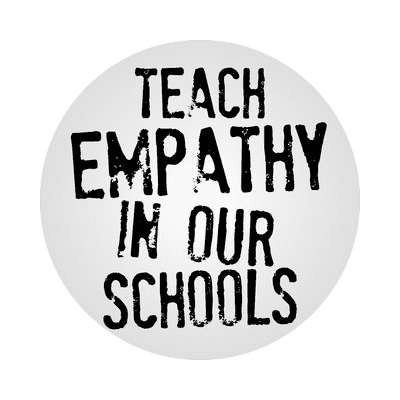 teach empathy in our schools education school sticker elementary kindergarten books teacher student homework math english science art apple library librarian