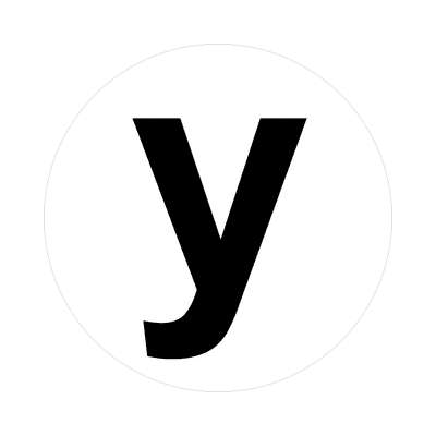 letter y lower case alphabet sticker letters roman english american language characters