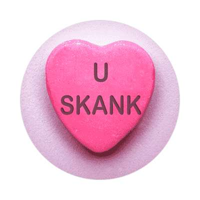 u skank valentines day love candy heart sticker funny sayings hilarious