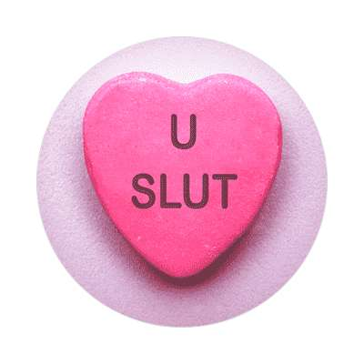 u slut valentines day love candy heart sticker funny sayings hilarious
