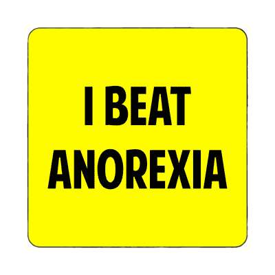 i beat anorexia magnet funny sayings random funny