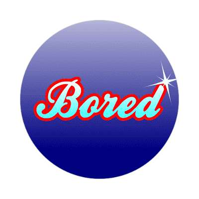 bored one word sticker