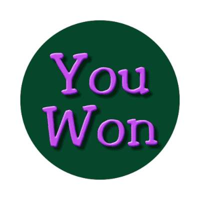 you won two words sticker
