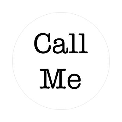 call me two words sticker
