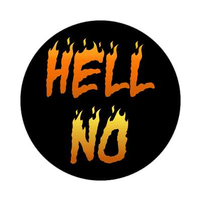 hell no two words sticker