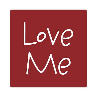 love me two words sticker