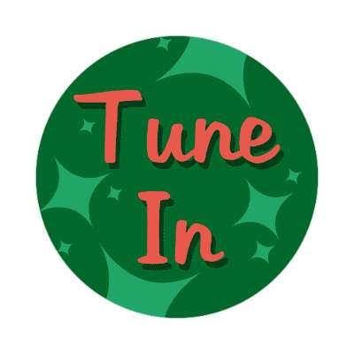 tune in two words sticker
