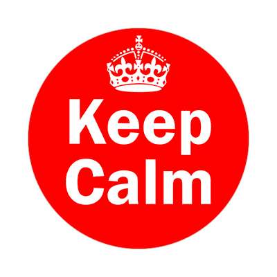 keep calm two words sticker