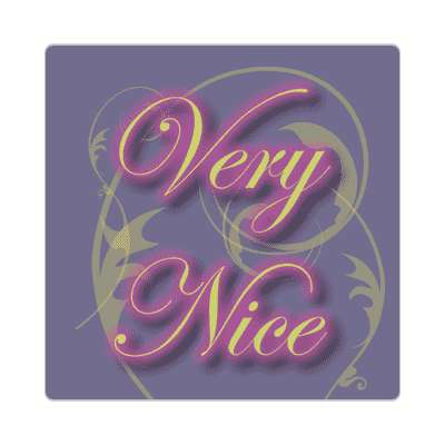 very nice two words sticker
