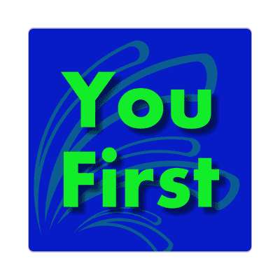 you first two words sticker