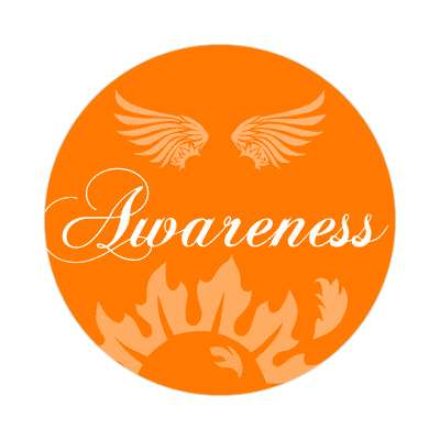 awareness one word sticker