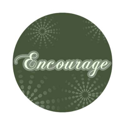 encourage one word sticker