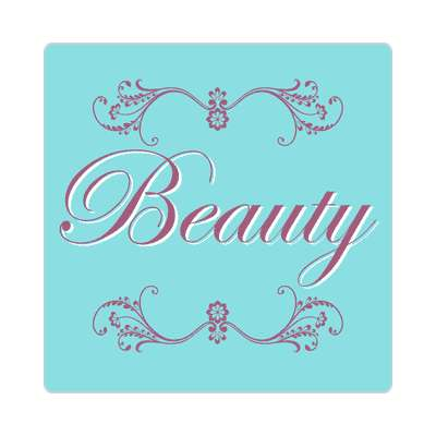 beauty one word sticker