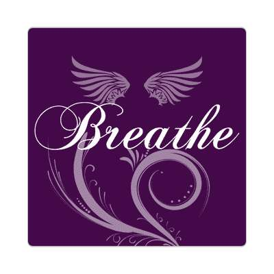 breathe one word sticker
