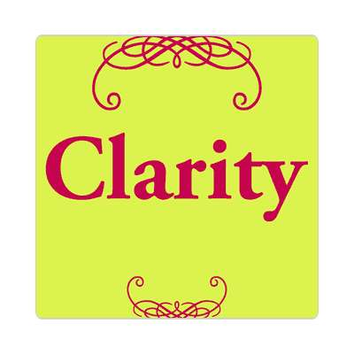 clarity one word sticker