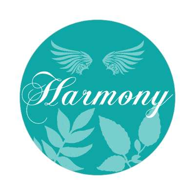 harmony one word sticker