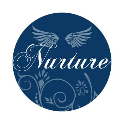 nurture one word sticker