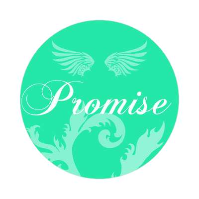 promise one word sticker